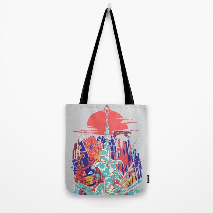Smash! Zap!! Zooom!! - Generic Spacecraft Tote Bag