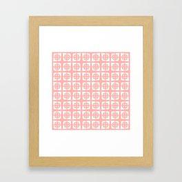 Mid Century Modern Pattern 271 Peach Framed Art Print