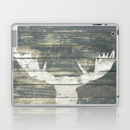 Rustic White Moose Silhouette A424a Laptop & iPad Skin