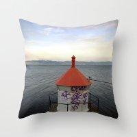 lighthouse Throw Pillows featuring lighthouse. by zenitt