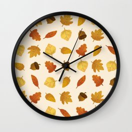 Leaf Lovers in Whipped Cream Wall Clock