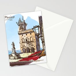 Sketches from Italy - San Marino Stationery Cards