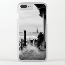 Liberty from the back of The Boat Clear iPhone Case