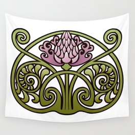 Nouveau Thistle Wall Tapestry