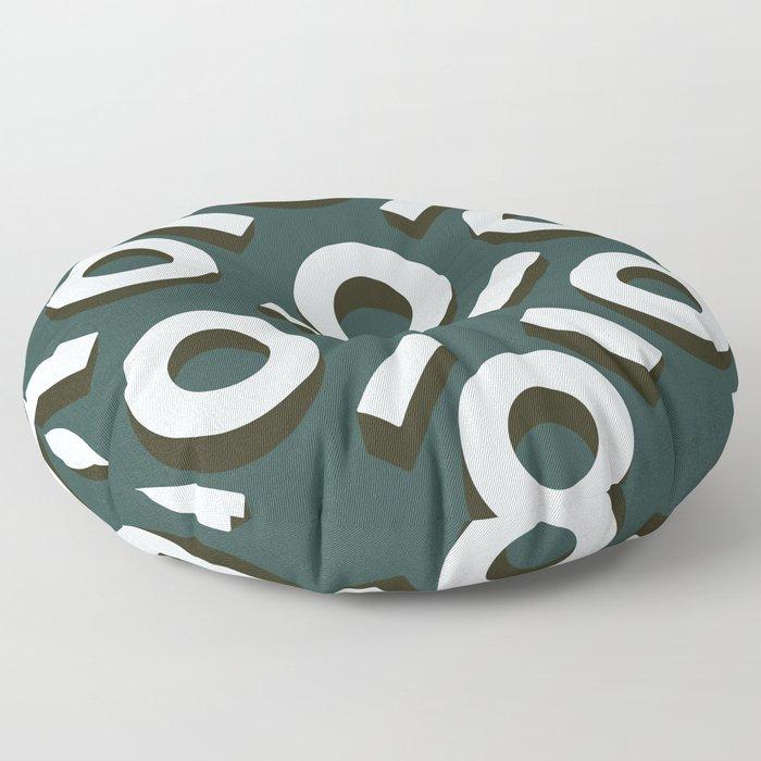 Teal Keyhole Pattern II Floor Pillow