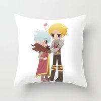 dragon age inquisition Throw Pillows featuring Dragon Age - Cullen and Trevelyan by Choco-Minto