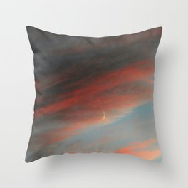 Moon and Sunset Throw Pillow