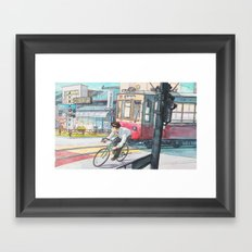 Bicycle Boy 05 Framed Art Print