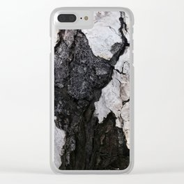 bark abstact no1 Clear iPhone Case