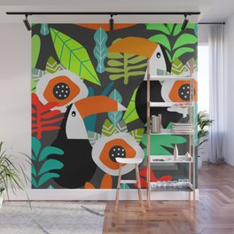 Tropical vibe with toucans Wall Mural