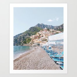 Amalfi Coast Beach Art Print