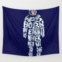 interstellar Wall Tapestries featuring interstellar typography by pokegirl93