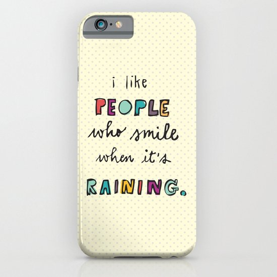 when it's raining iPhone & iPod Case