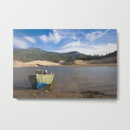 Boat At Water's Edge Metal Print