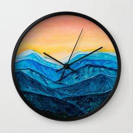 Blue Ridge Mountain Sunset Wall Clock