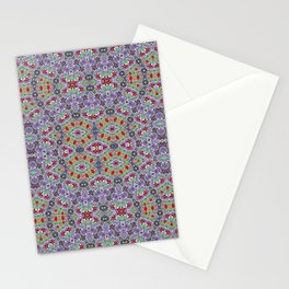 Colorful Embroidery Folk Pattern Stationery Cards