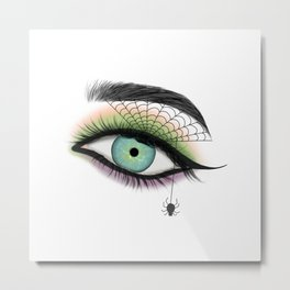Female Eye With A Spider Web Metal Print