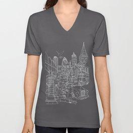 London! Dark T-shirt version Unisex V-Neck