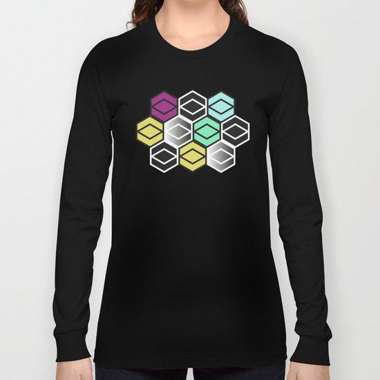 HexagonWall Long Sleeve T-shirt