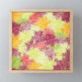 Tropical Fan Palm Paradise – Colorful #04 Framed Mini Art Print
