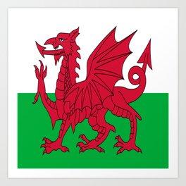 Flag of Wales,uk,great britain,dragon,cymru, welsh,celtic,cymry,cardiff,new port Art Print