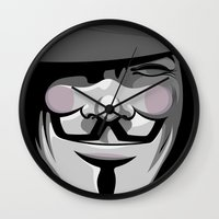 vendetta Wall Clocks featuring Vendetta by BiggStankDogg