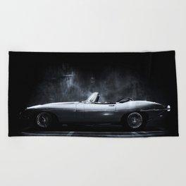 Jaguar E-Type XKE Profile Beach Towel