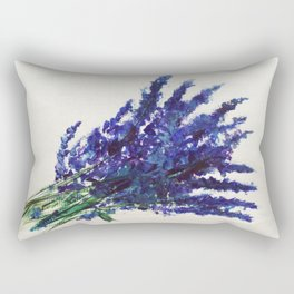 Fresh Cut Lavender Watercolors On Paper Rectangular Pillow