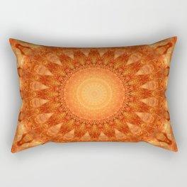 Mandala orange  Rectangular Pillow