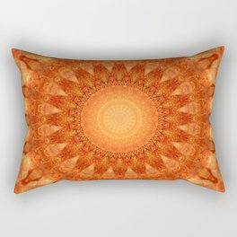 Mandala orange  Rectangular Pillow