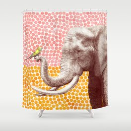 New Friends 2 by Eric Fan and Garima Dhawan Shower Curtain