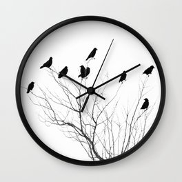Crow Tree Wall Clock