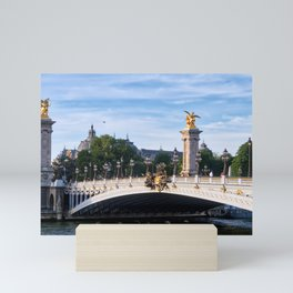 Pont Alexandre III on Seine River - Paris France Mini Art Print