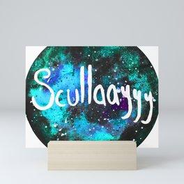 Scullaayyyy Blue & Turquoise Mini Art Print