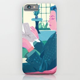 Elevator to the Gallows - Jeanne Moreau - illustration tribute iPhone Case
