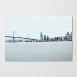 View of Bay Bridge from the Treasure Island Shoreline Canvas Print