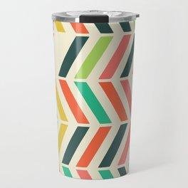 Color line pattern Travel Mug