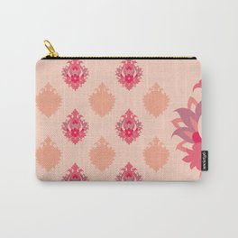 Shah-Abbasi Flower Pattern (Pink) Carry-All Pouch