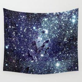 The Eagle Nebula / Pillars of Creation Midnight Indigo Teal Blue Wall Tapestry