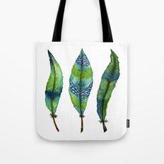 Mystic Sea Feather Trio Tote Bag