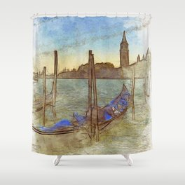 Venezia Gondola - SKETCH Shower Curtain