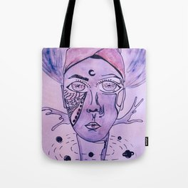 The King of The Purple Galaxy Tote Bag