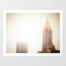Buildings With a Touch of Gold 1 Art Print