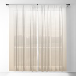 White Tan Ombre Sheer Curtain