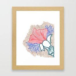 Fly Flower Framed Art Print