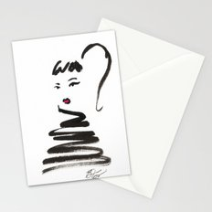 Stylish Girl Ink Croquis 2 Stationery Cards