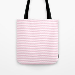 Pink Zigzag Design Tote Bag