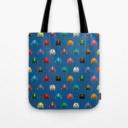Cool Colorful Megaman Helmet Pattern Tote Bag