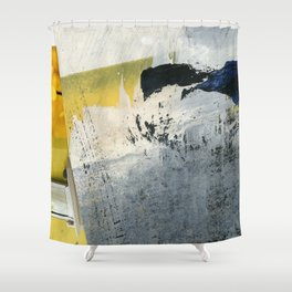 Mellow Yellow Texture Collage Shower Curtain