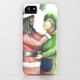Anyone can be Santa iPhone Case